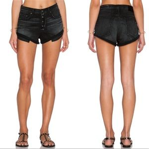 Rag & Bone Marilyn Denim Shorts Black Size 24